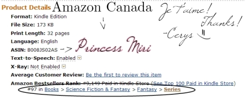 Amazon.ca Top 100 Paid Fantasy Series Best Seller!