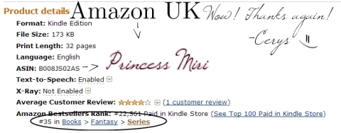 Amazon.co.uk Top 100 Paid Fantasy Series Best Seller!